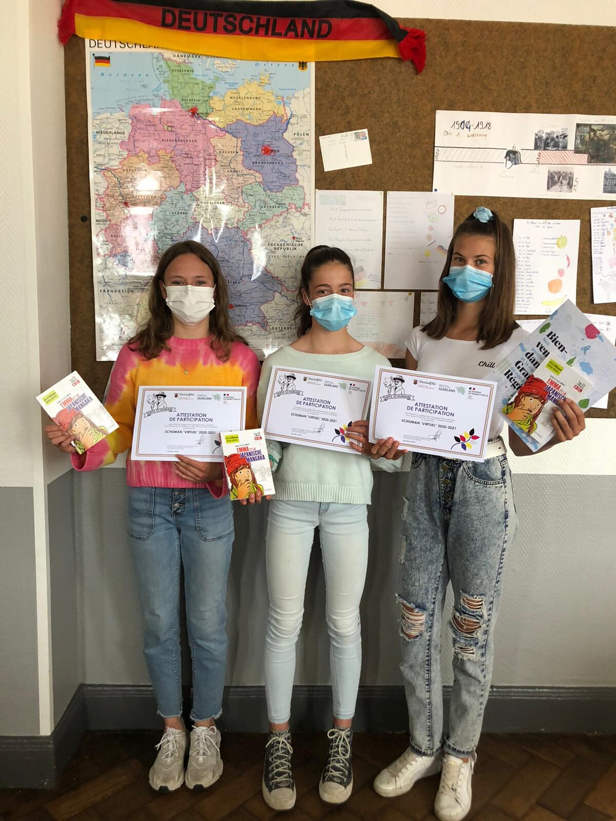 Justine, Anouk et Zoé récompensées. 🙂